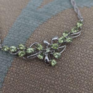 Jewelry - New rhodium plated peridot necklace